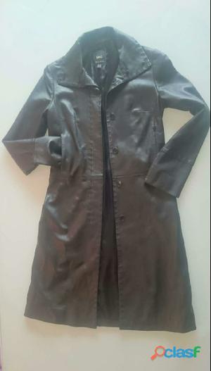 Abrigo cuero mujer 0