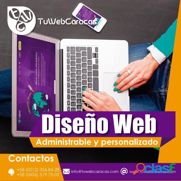 DISEÑO WEB CARACAS VENEZUELA PAGINAS PERSONALIZADAS 0