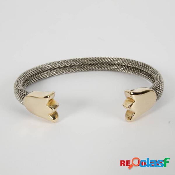 Pulsera TOUS MESH Tulipanes de oro y acero de segunda mano E299690 0