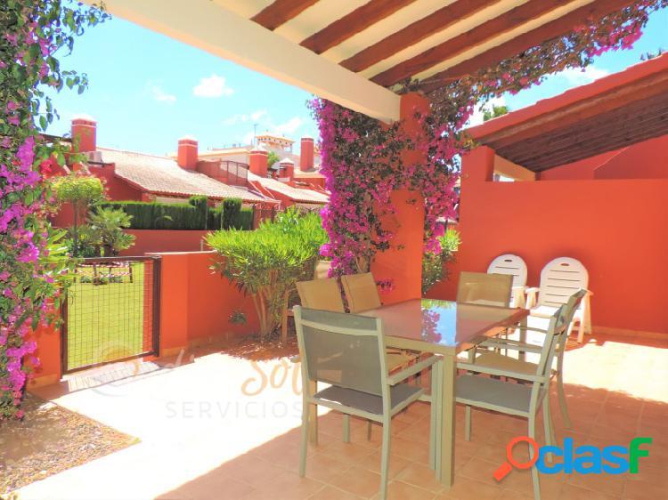Chalet adosado 3 dormitorios con piscina y jardines Mar de Cristal 1