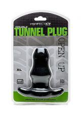PERFECT FIT DOUBLE TUNNEL PLUG XL - NEGR 0