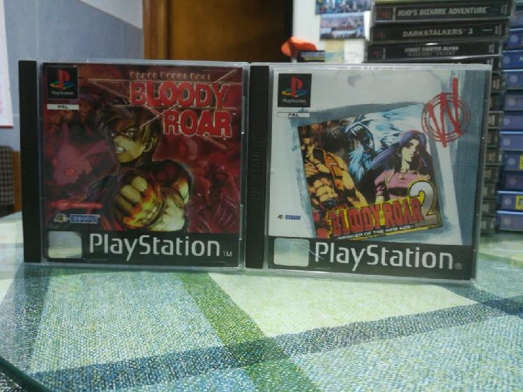 Bloody Roar 1 y 2 Pal completos Ps1 Psx 0