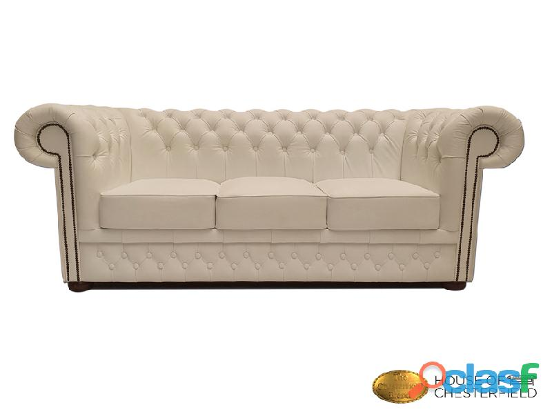 Sofá Chester Classic White 3 plazas auténtic Chesterfield Brand 0