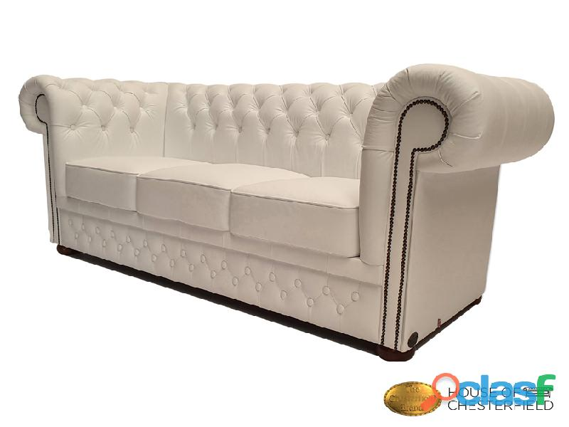 Sofá Chester Classic White 3 plazas auténtic Chesterfield Brand 8