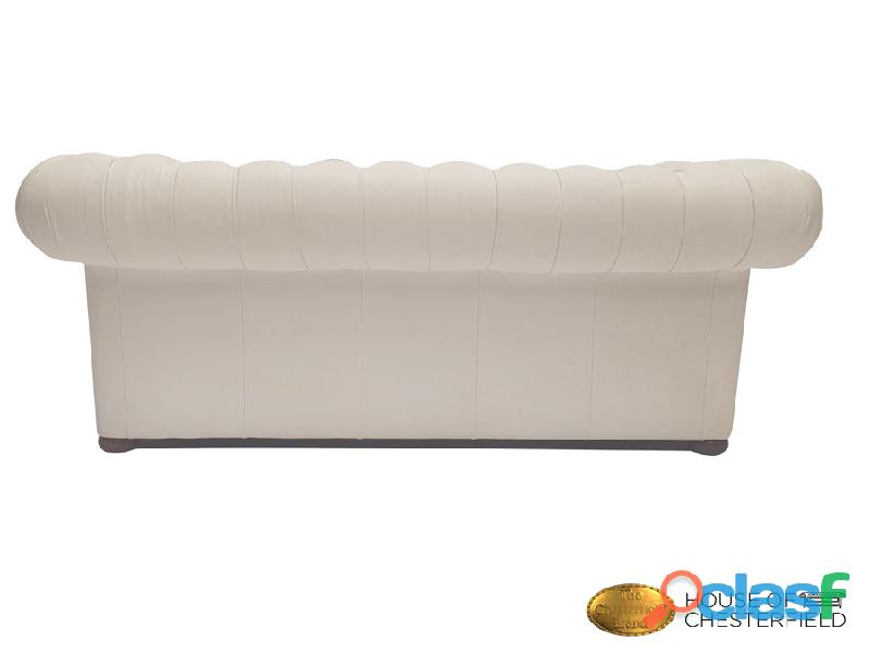 Sofá Chester Classic White 3 plazas auténtic Chesterfield Brand 7