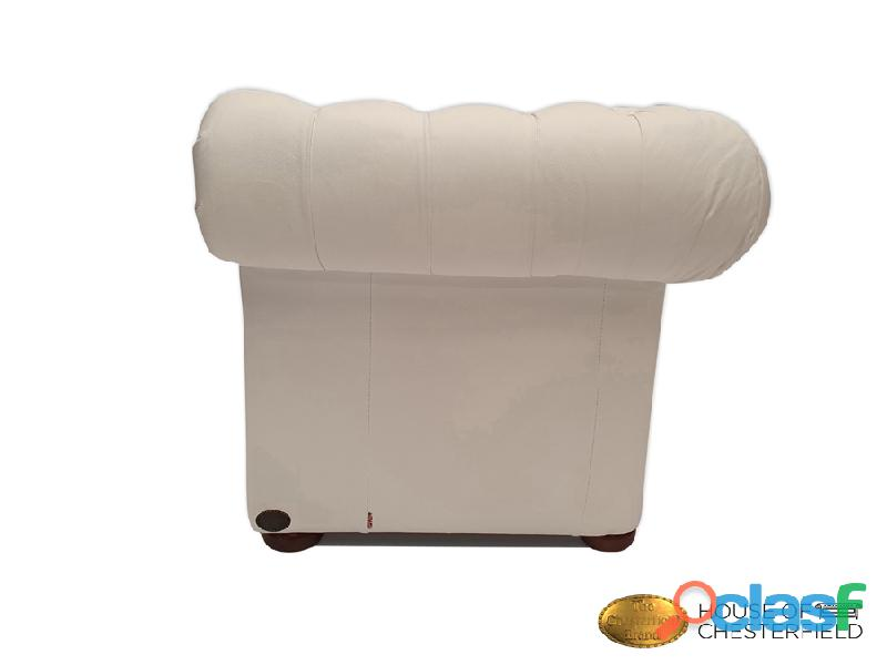 Sofá Chester Classic White 3 plazas auténtic Chesterfield Brand 6