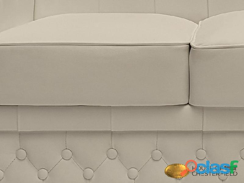 Sofá Chester Classic White 3 plazas auténtic Chesterfield Brand 5
