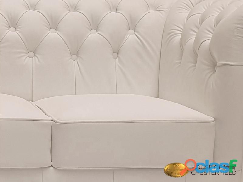 Sofá Chester Classic White 3 plazas auténtic Chesterfield Brand 4