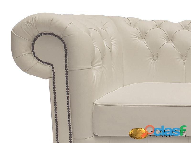 Sofá Chester Classic White 3 plazas auténtic Chesterfield Brand 3