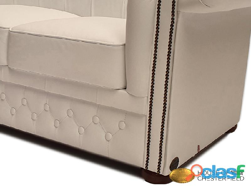 Sofá Chester Classic White 3 plazas auténtic Chesterfield Brand 2