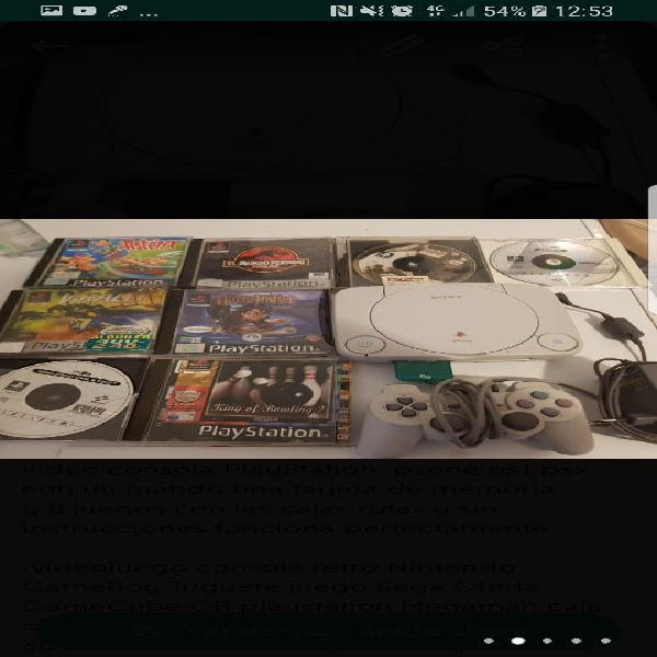 video consola PlayStation psone ps1 psx 0