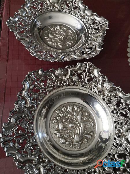 pareja bandejas de plata 1