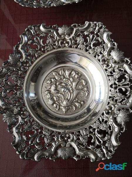 pareja bandejas de plata 2
