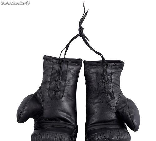 Guante guantes boxeo pareja artesanal vintage piel negro 0