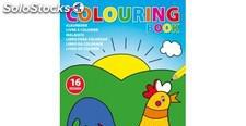 Libro infantil para colorear en formato A4 con 16 diseños 0