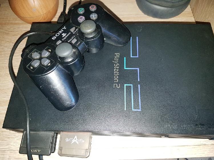 play Station 2 + mando + tarjetas memoria + juego 0