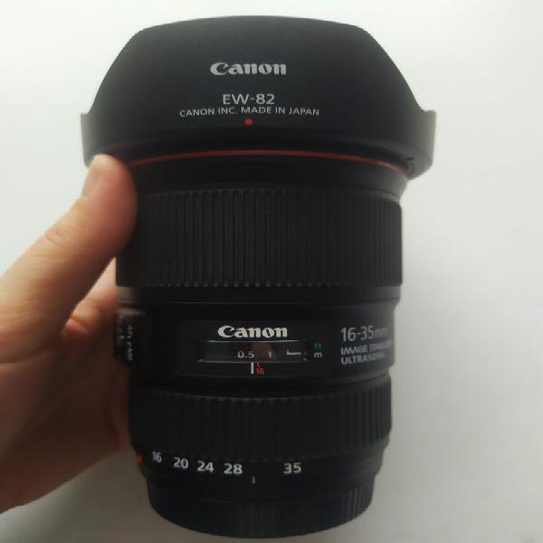 Objetivo Canon EF 16-35 f/4L IS USM NUEVO con Polarizador 0