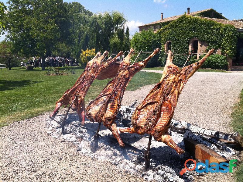 Cátering de carnes brasa bodas www.buenosfuegos.com