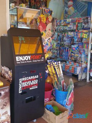Máquina de recargas, pines para consolas y juegos, steam, yomvi, paysafecard...
