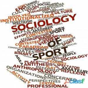 Docencia y ayuda en trabajos para sociología