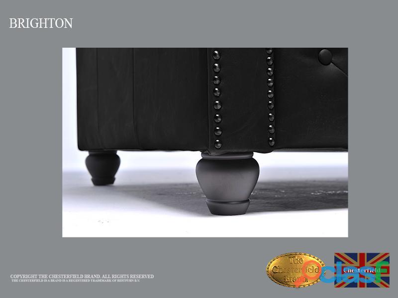 Sofá Chester Brighton Classic* Vintage Negro* 3 plazas*Cuero 3
