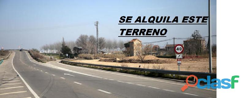 ALQUILO TERRENO INDUSTRIAL EN KM 459 LLEIDA