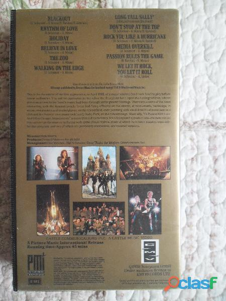 SCORPIONS TO RUSSIA WITH LOVE HARD AND HEAVY VHS METAL 3