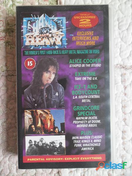 SCORPIONS TO RUSSIA WITH LOVE HARD AND HEAVY VHS METAL 2