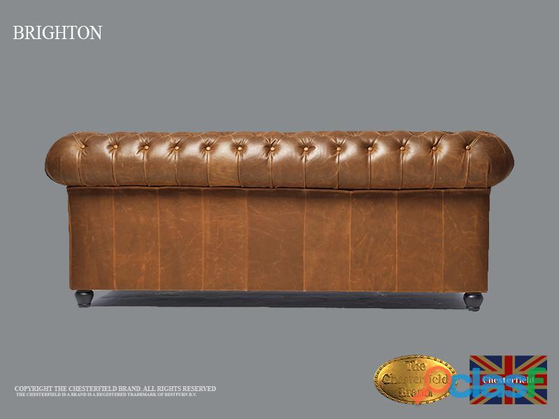 Sofá Chester Vintage Mocca *2 plazas*Auténtic Chesterfield Brand Cuero*hecho artesanal 5