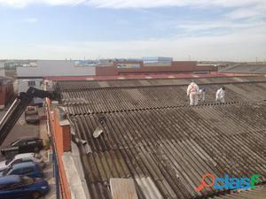 Trabajos de eliminación de productos con amianto como la uralita en toda españa
