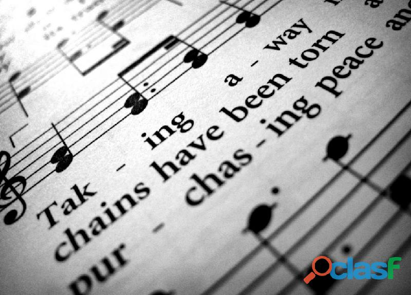 Clases de canto y piano presenciales y online