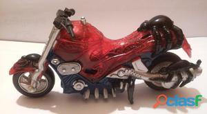 Moto spiderman con sidecar