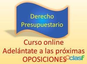 Curso online de derecho presupuestario orientado a oposiciones.