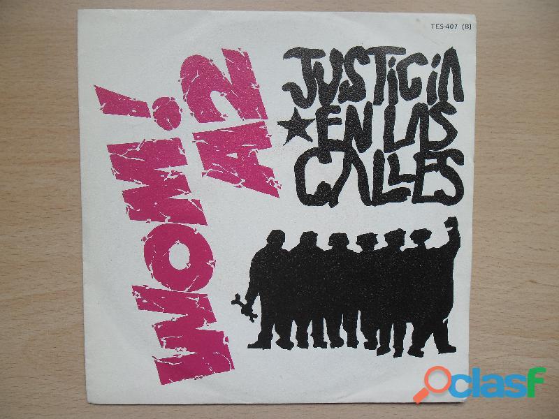 WOM! A2 VINILO SINGLE 1986 JUSTICIA EN LAS CALLES