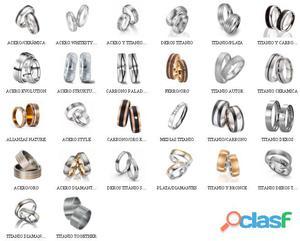 Alianzas de titanio,variedad de modelos
