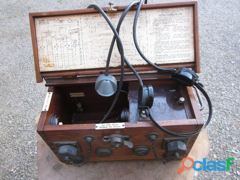 Telefono Siebe Gorman 2 buzos años 1920 original buen estado