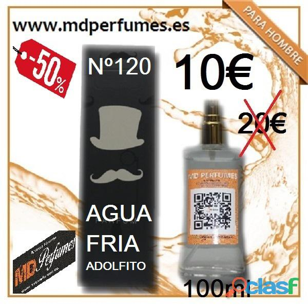 Perfume hombre nº120 agua friia adolfito marca blanca equivalente alta calidad
