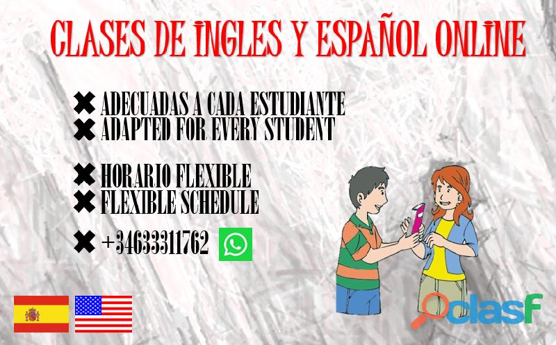 Clases de ingles y español online