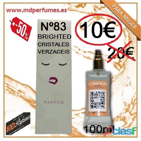 Perfume mujer Nª83 BRGHTED CRISTALES Equivalente de alta Gama en alta Calidad