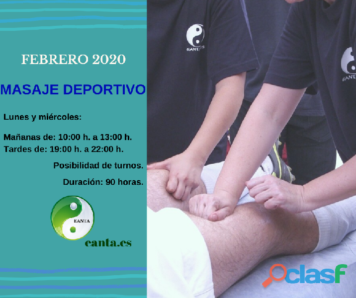Masaje Deportivo EANTA CURSO