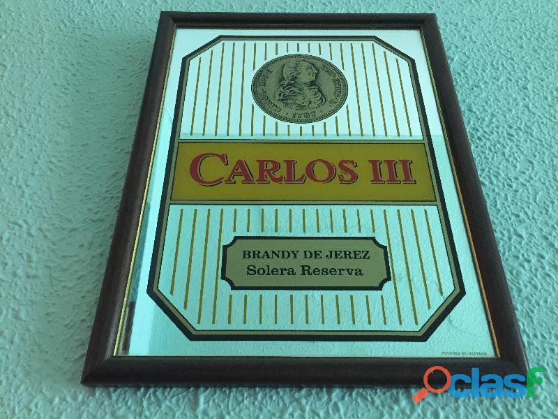 Cuadro espejo brandy carlos iii