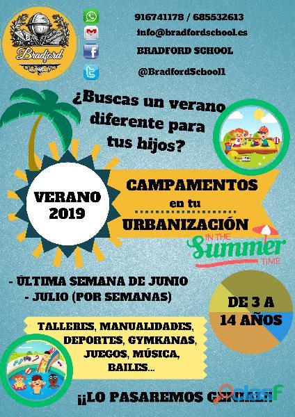 Campamentos de verano en urbanizaciones