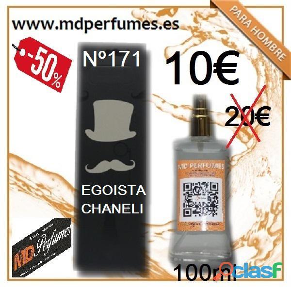 Perfume Hombre n 171 Egoista Chaneli equivalente alta Gana 100ml