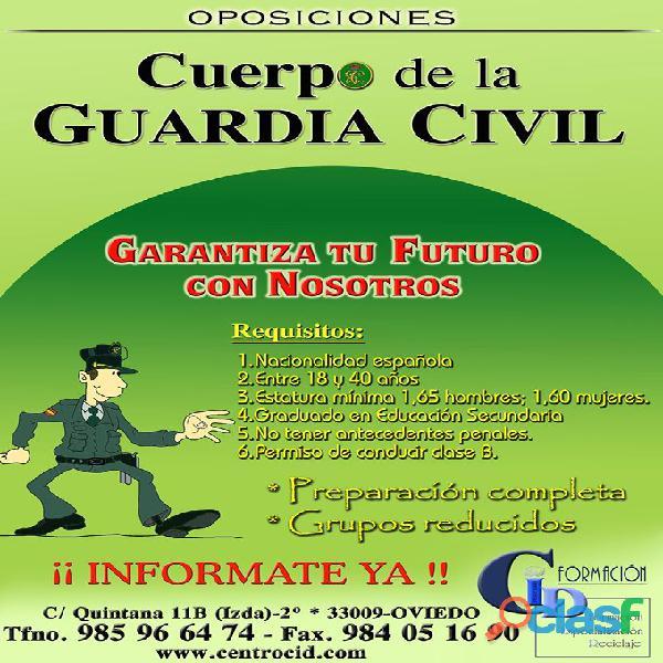 Preparación oposiciones guardia civil – centro de formacion cid