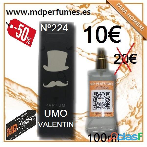 Perfumes hombre nº224 umo valentín equivalente alta gama 100ml 10€