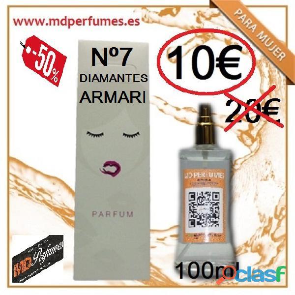 Perfume Mujer N 07 Diamantes Armari Equivalente 100ml 10€ Alta Gama