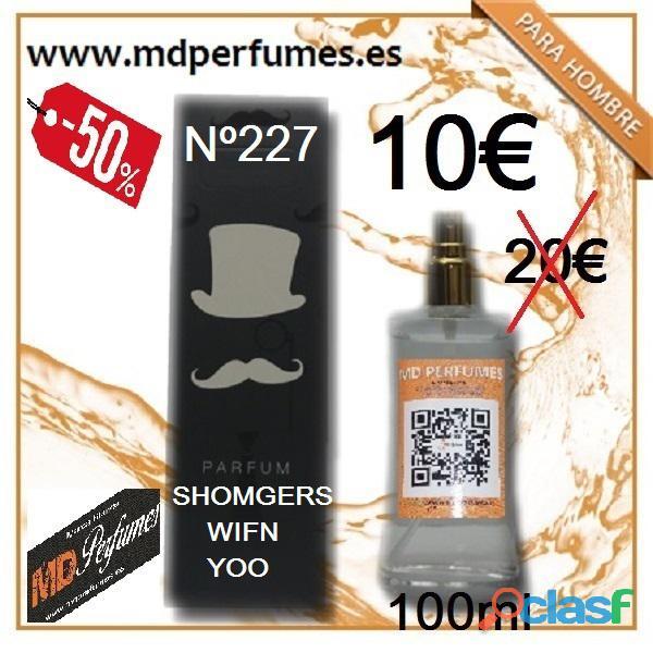 Perfume hombre Shomgers Wifn yoo Equivalente 100ml 10€ Alta Gama