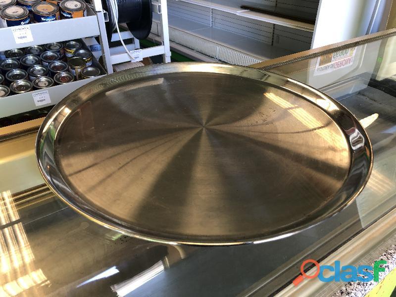 Bandeja de servir de acero inox de 40cm
