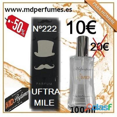 Perfume equivalente hombre n222 uftra mile 100ml 10€ marca blanca alta gama