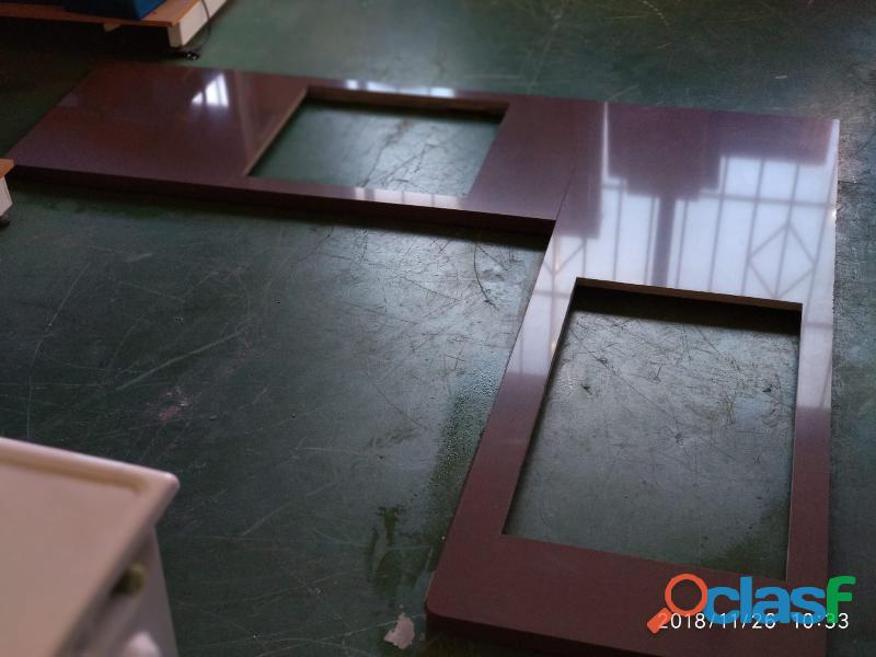 Encimera color chocolate silestone en forma de l